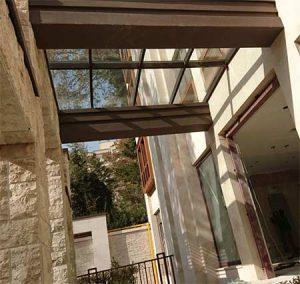 سقف شیشه ای دوطرف شیبدار